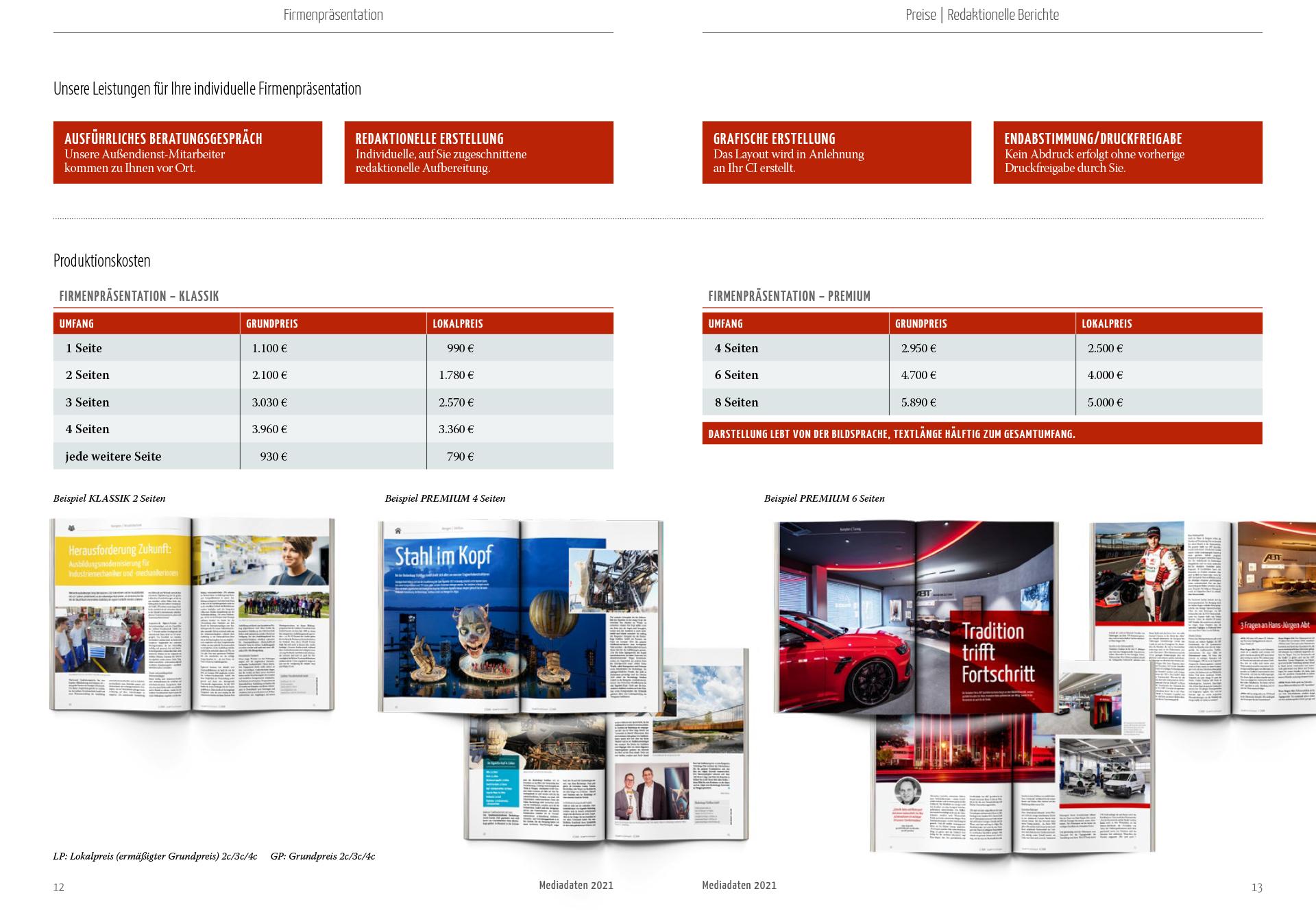 Allgäuer Wirtschaftsmagazin Preise Firmenpräsentation und redaktionelle Beiträge