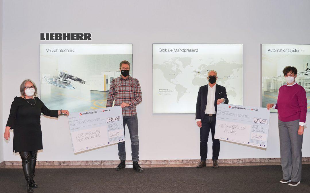 7.000 Euro an Spenden der Liebherr-Verzahntechnik GmbH