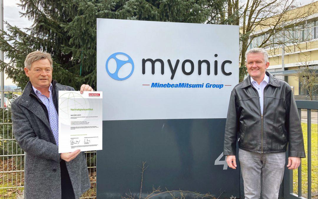 Myonic setzt sich nachweislich für den Umweltschutz ein